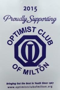 Optimist club sticker for door of Optical