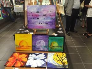 Colourful paintings in Milton Ontario Eyeglass store