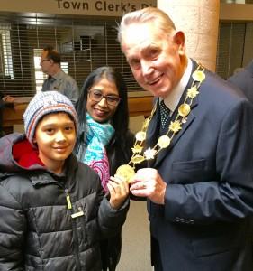 Milton Mayor at Town Hall