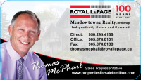 Real estate agent Thomas McPhail in Milton ontario United way milton sponsor