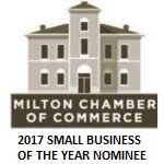 Milton Chamber of commerce 2017 small business of the year nominee