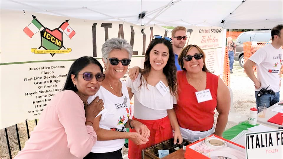 Matador eyeworks staff volunteering and Italiafest Milton 2018