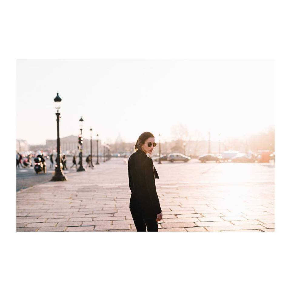 Lady walking in Paris wearing Francois Pinton sunglasses