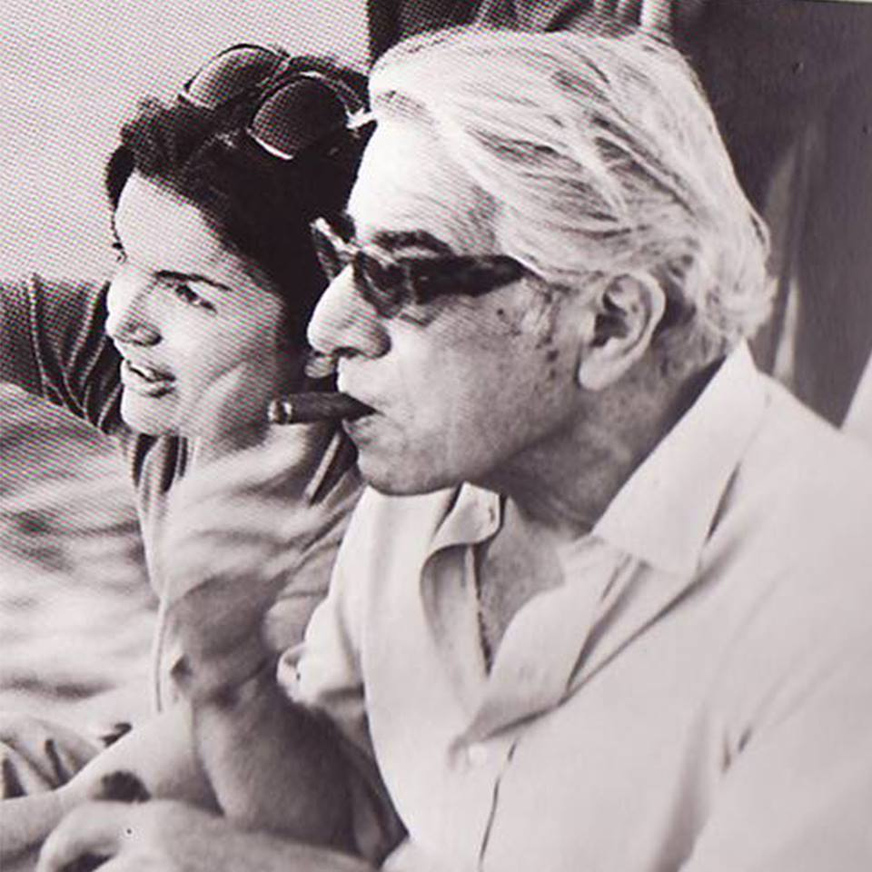 Jackie and Aristotle Onassis wearing Francois Pinto eyeglasses and sunglasses