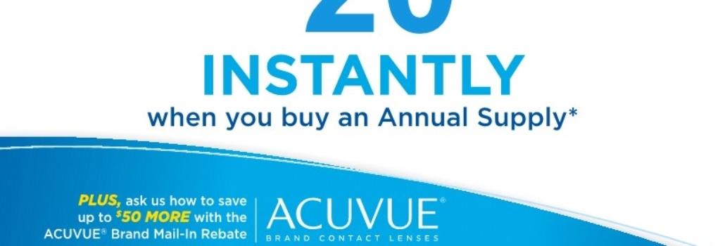 Acuvue Oasys Instant Savings!