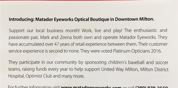"Matador Eyeworks featured in ""The Scott Report"""