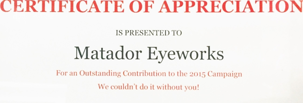 United Way Milton Certificate of Appreciation